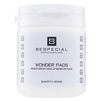 """Силиконовые диски Wonder Pads """"BeSpecial"""" для снятия макияжа с бровей (30 штук) - фото 4562"""