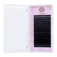 Черные ресницы Enigma микс 0,12/D  (16 линий)