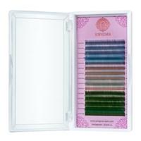 """Цветные ресницы Enigma микс 0,10/C/9-13 mm """"Wild tropics"""" (15 линий)"""