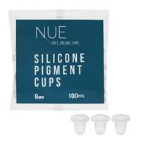 Капсы NUE для пигмента силиконовые 8мм, 100шт/уп