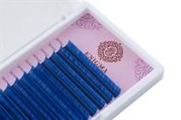 """Цветные ресницы Enigma микс 0,07/C/7-12 mm """"Blue"""" (6 линий)"""