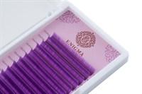"""Цветные ресницы Enigma микс 0,07/L/7-12 mm """"Purple"""" (6 линий)"""